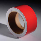 "INCOM Reflective Safety Tape, 2""W x 30'L, Solid Red, 1 Roll"