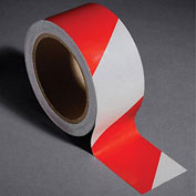 "INCOM Reflective Safety Tape, 2""W x 30'L, Striped Red/White, 1 Roll"