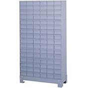 "DURHAM All-Steel Drawer Cabinet - 34-1/8x12-1/4x62-1/2"" - (96) 5-1/4x11-1/8x2-3/4"" Drawers"