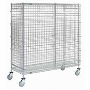 Wire Security Storage Truck with Brakes, 36 x 14 x 69, 1200 Lb. Cap.