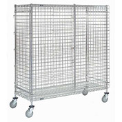 Wire Security Storage Truck with Brakes, 36 x 18 x 69, 1200 Lb. Cap.