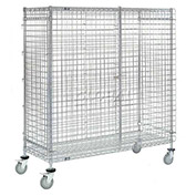 Wire Security Storage Truck With Brakes, 48 x 14 x 69, 1200 Lb. Cap.