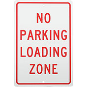No Parking Loading Zone Aluminum Sign .063mm Thick