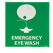 NMC S50P Graphic Facility Signs - Emergency Eye Wash - Vinyl 7x7