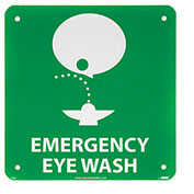 NMC S50R Graphic Facility Signs - Emergency Eye Wash - Plastic 7x7