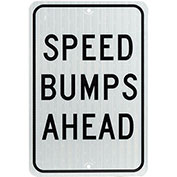 Speed Bump Ahead Aluminum Sign, .080mm Thick