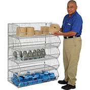 Stackable Wire Storage Rack Removable Bins, 48x20x45