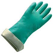 Flock Lined X-Large Nitrile Gloves, Size 10, 1 Pair