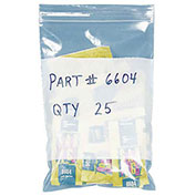 "Poly Bags With Write-On Label, Resealable, 6"" x 9"", 2 Mil, 1,000/Pk"