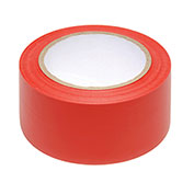 "INCOM Safety Tape, 3""W x 108'L, Solid Red, 1 Roll"