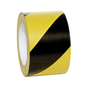 "INCOM Striped Hazard Warning Tape, 3""W x 108'L, Yellow/Black, 1 Roll"