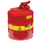 Justrite 7150100 Safety Can Type I, Five Gallon Galvanized Steel