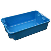 "Molded Fiberglass Nest and Stack Tote 780208-5268 - 17-7/8"" x10""-5/8"" x 5"" Blue - Pkg Qty 12"
