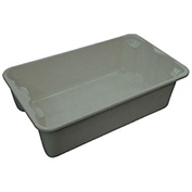 "Molded Fiberglass Toteline Nest and Stack Tote 7802085172 - 17-7/8"" x10""-5/8"" x 5"" Gray - Pkg Qty 12"