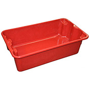 "Molded Fiberglass Nest and Stack Tote 780208-5280 - 17-7/8"" x10""-5/8"" x 5"" Red - Pkg Qty 12"