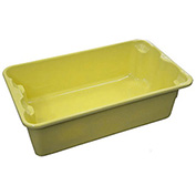 "Molded Fiberglass Nest and Stack Tote 780208-5126 - 17-7/8"" x10""-5/8"" x 5"" Yellow - Pkg Qty 12"