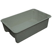 "Molded Fiberglass Toteline Nest and Stack Tote 7803085172 - 19-3/4"" x 12-1/2"" x 6"" Gray - Pkg Qty 12"