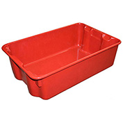 "Molded Fiberglass Nest and Stack Tote 780308-5280 - 19-3/4"" x 12-1/2"" x 6"" Red - Pkg Qty 10"