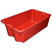 "Molded Fiberglass Nest and Stack Tote 780508-5280 - 24-1/4"" x 14-3/4"" x 8"" Red - Pkg Qty 10"