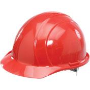ERB™ Americana Hard Hat, 4-Point Pinlock Suspension, Red, 19764