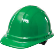 ERB™ Omega II Hard Hat, 6-Point Ratchet Suspension, Green, 19958