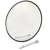 "Wide Angle Convex Safety Glass Mirror, 18"" Diameter, Indoor"