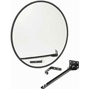 "Wide Angle Convex Safety Glass Mirror, 18"" Diameter, Outdoor"
