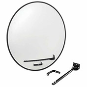 "Wide Angle Convex Safety Glass Mirror, 36"" Diameter, Indoor"