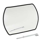 "Outdoor Wide Angle Convex Safety Mirror, 20"" x 30"", Acrylic, 160°"