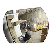 "Wide Angle Convex Safety Acrylic Mirror, 20""x30"", Indoor"