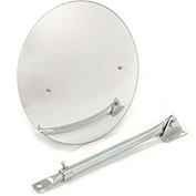 "Wide Angle Convex Safety Acrylic Mirror, 12"" Diameter, Indoor"