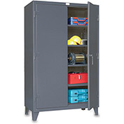 "STRONG HOLD Ultra-Capacity Lifetime Cabinet - 48x24x78"" - Steel - Dark gray"