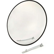 "Outdoor Wide Angle Convex Safety Mirror, 18"" Diameter, Acrylic, 160°"
