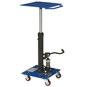 "Work Positioning Post Lift Table Foot Control, 16""x16"" Platform, 200 Lb. Capacity"