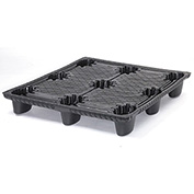 """48""""L x 40""""W Thermoformed Plastic Pallet, Black, 1275 Lbs Fork Capacity"""