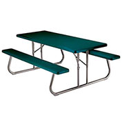 "Fold-Away Picnic Table 72"" x 30"" - Green"