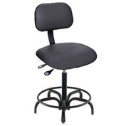 "Operator Chair Pneumatic Height Adjustment - 21 to 26""H, Black"