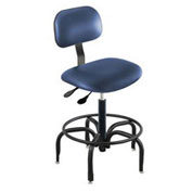 "Operator Chair Pneumatic Height Adjustment - 21 to 26""H, Blue"