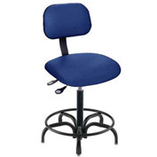 "Operator Chair Pneumatic Height Adjustment - 25 to 30""H, Navy"