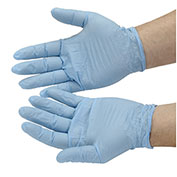 Disposable Powdered Nitrile Gloves, Medium, Blue, 100/Box