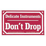 "Labels 3x5"", ""Delicate Instruments Don't Drop"""