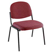 Contoured Stack Chair, Fabric Upholstery, Burgundy