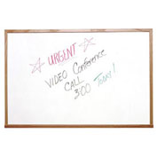Ghent Marker Board with Markers, White, 72 x 48