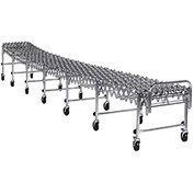 "Nestaflex Expandable Skatewheel Conveyor - 24""W - 3'3""-12'10""L - 28-44""H - Steel Skate Wheels"