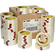 "Reinforced Strapping Tape, 1/2"" x 60 Yds, 4.6 Mil, Clear - Pkg Qty 72"