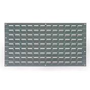 Louvered Wall Panel, 18x19, Gray - Pkg Qty 4