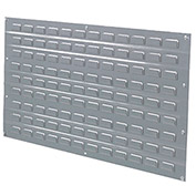 Louvered Wall Panel, 36x19, Gray - Pkg Qty 4