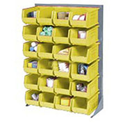 Single-Sided Floor Rack with (96) Yellow Bins