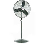 "Oscillating Pedestal Fan, 24"" Diameter, 1/4HP, 7525CFM"