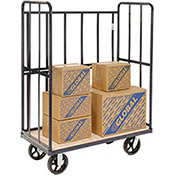"2,000 Lb. Shelf Truck With 3 Enclosed Sides, 48""W x 24""D x 64""H"
